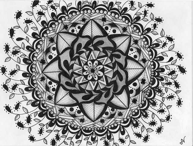 A Zentangle Image by Judy